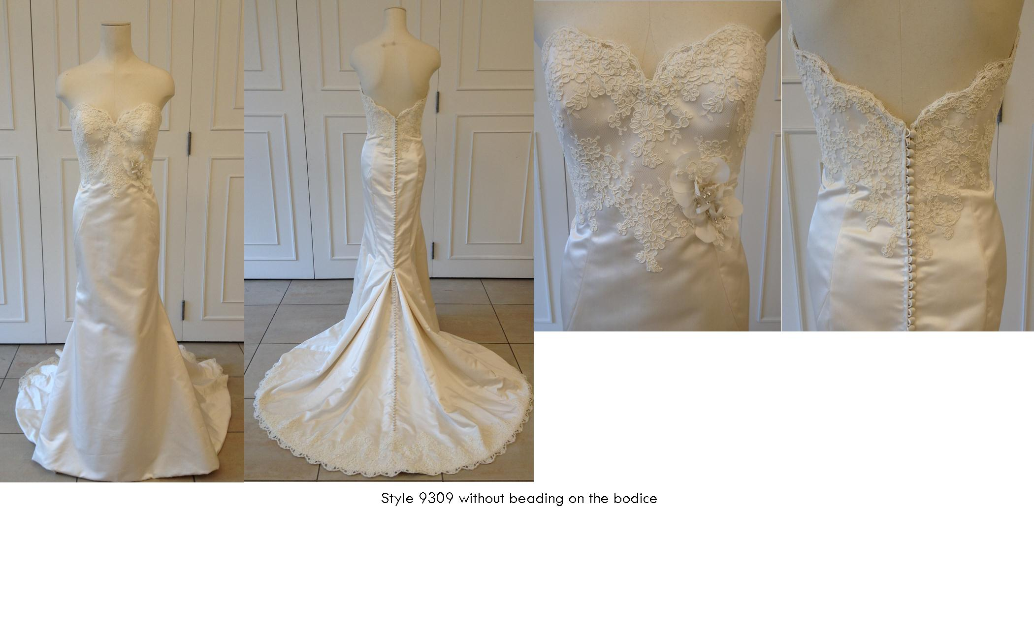 9309 with no beading on the bodice