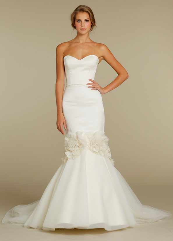 Alvina Valenta Bridal Strapless Sweetheart Neckline Mermaid Jeweled ...