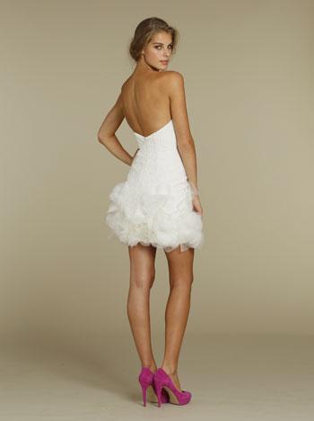 Lace Black Dress on Fleur Cotton Lace Mini Bridal Dress With Dancing Pedaled Hem