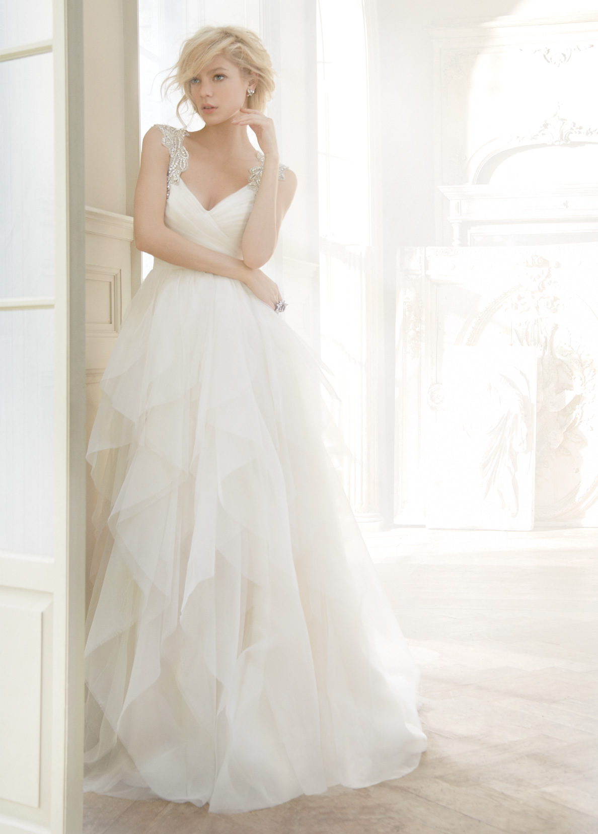 Hayley Paige Bridal Gowns, Wedding Dresses Style HP6350 by JLM Couture, Inc.