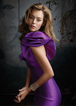 Purple Bridesmaid Dresses Lazaro 2013