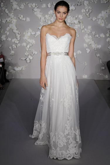 Bridal gowns wedding dresses by lazaro style lz3004 for Lazaro lace wedding dress