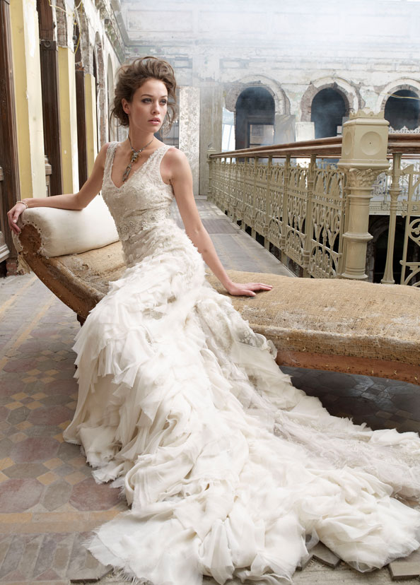 Lazaro Bridal Gowns, Wedding Dresses Style LZ3202 by JLM Couture, Inc.