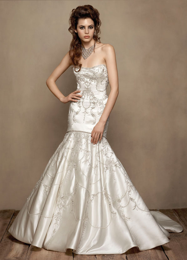Lazaro Bridal Gowns, Wedding Dresses Style LZ3607 by JLM Couture, Inc.