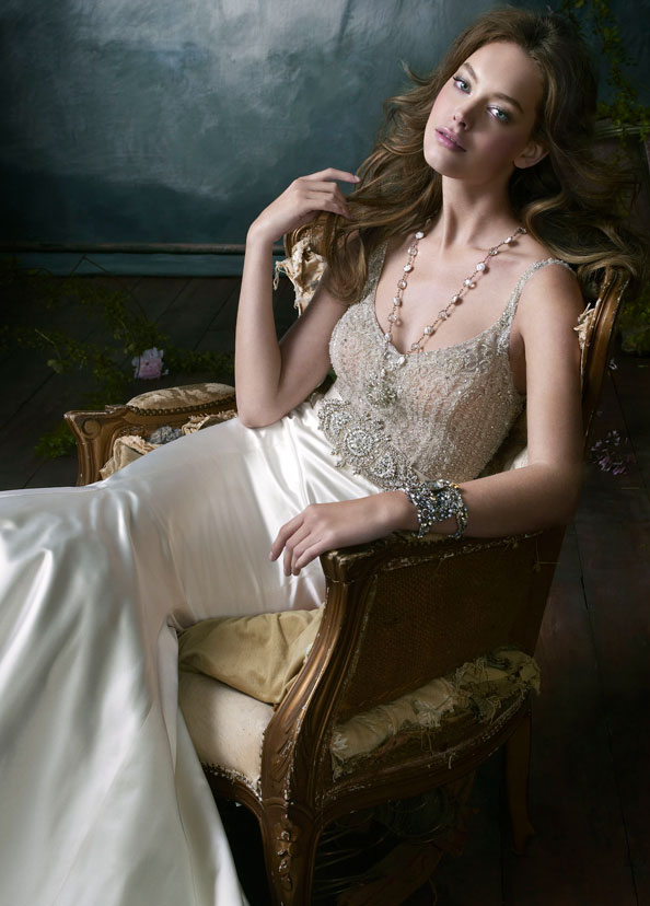 Lazaro Bridal Gowns, Wedding Dresses Style LZ3052 by JLM Couture, Inc.