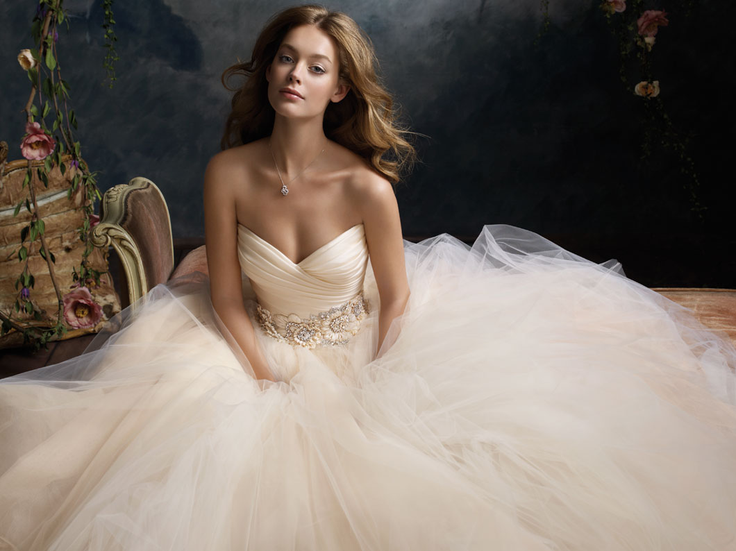 lazaro bridal tulle ball gown pleated silk satin organza floral jewel natural waist circular chapel train 3108 zm when is a dress more than just a dress?