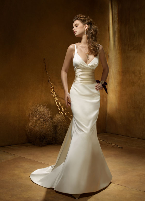 Silk Wedding Dresses - halter wedding dress