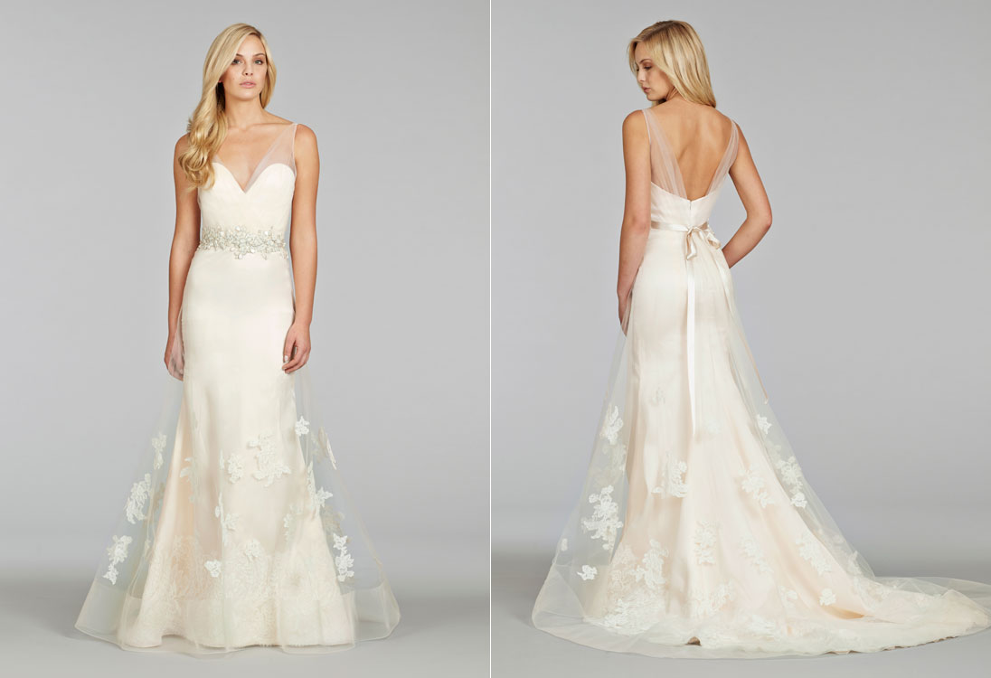 A Line Tulle Simple Wedding Dresses With Beading Off The: Lazaro/Alvina Valenta/Jim Hjelm/Hayley Paige/Tara Keely